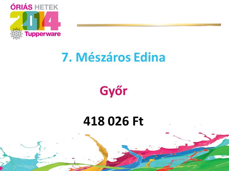 7. Mészáros Edina Győr 418 026 Ft
