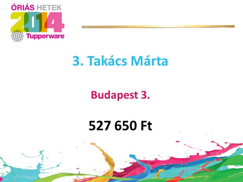 3. Takács Márta Budapest 3. 527 650 Ft