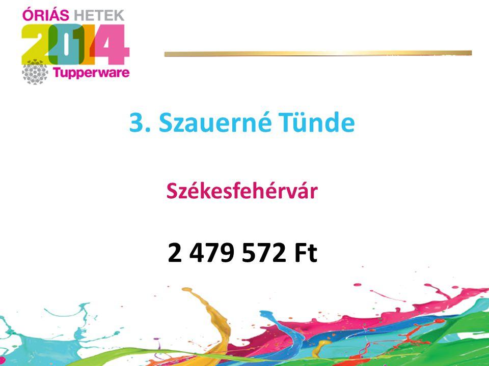 3. Szauerné Tünde Székesfehérvár 2 479 572 Ft