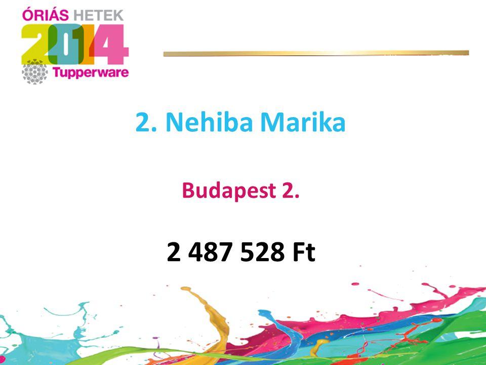 2. Nehiba Marika Budapest 2. 2 487 528 Ft