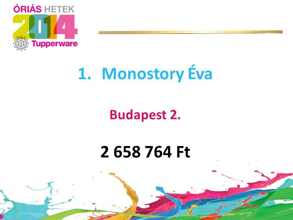 1.Monostory Éva Budapest 2. 2 658 764 Ft