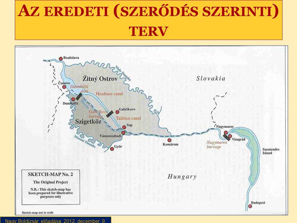 Nagy Boldizsár előadása 2012. december 9. A Z EREDETI ( SZERŐDÉS SZERINTI ) TERV