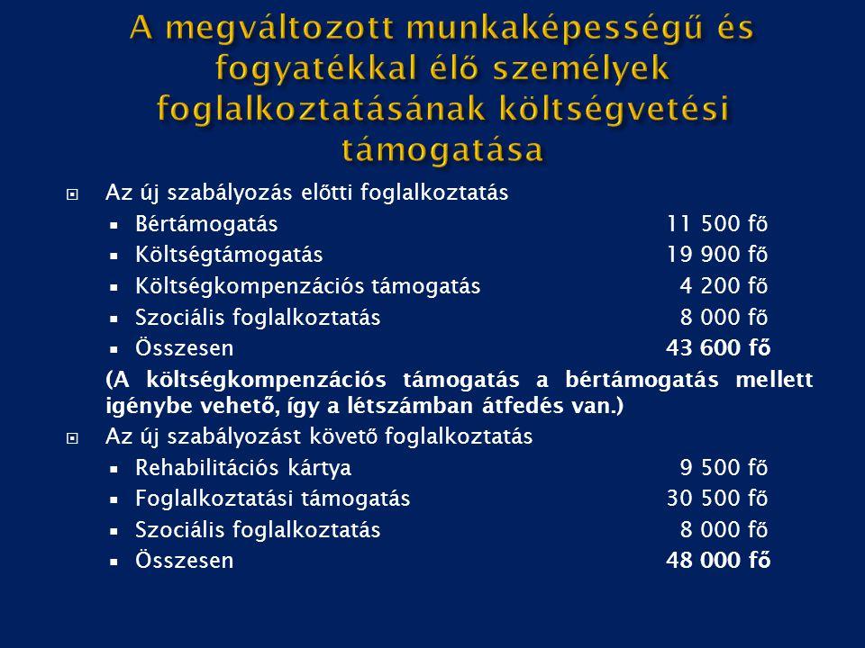 Foglalkoztatást bővítő bértámogatás 2015 - 2016 - járulék és bértámogatások