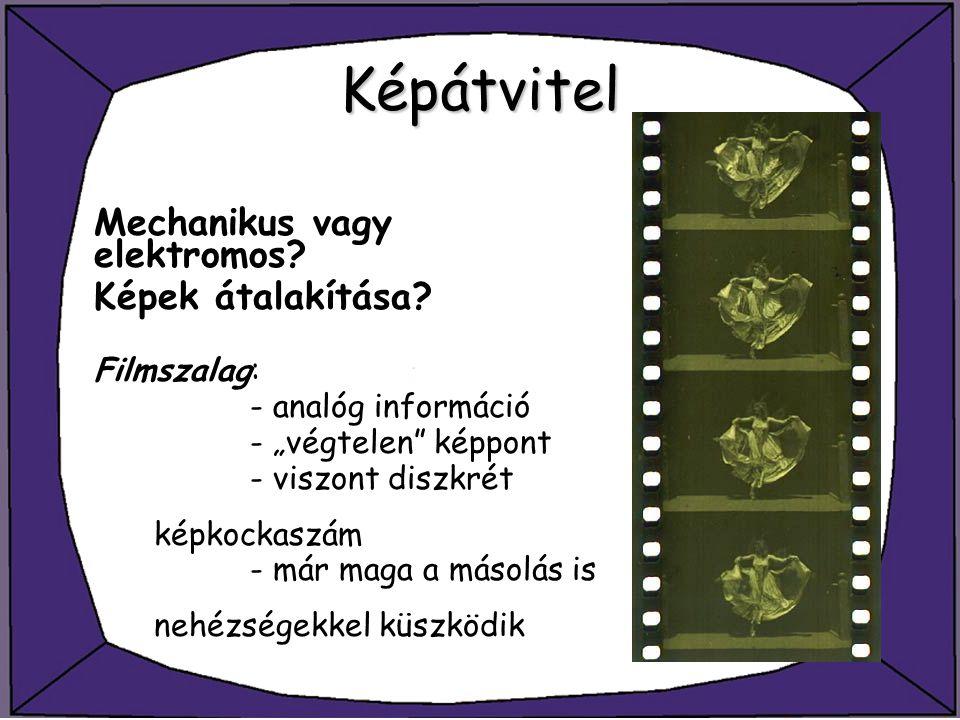 Videó tömörítés MPEG-1/2 - a JPEG-el ellentétben az MPEG kódere és dekódere jelentősen különbözik, legfőképp számításigényükben (asszimmetrikus) - a tömörített információ egymásba ágyazott rétegekből áll - fontos megállapítás, hogy a rétegek nem mindegyike dekódolható önmagában
