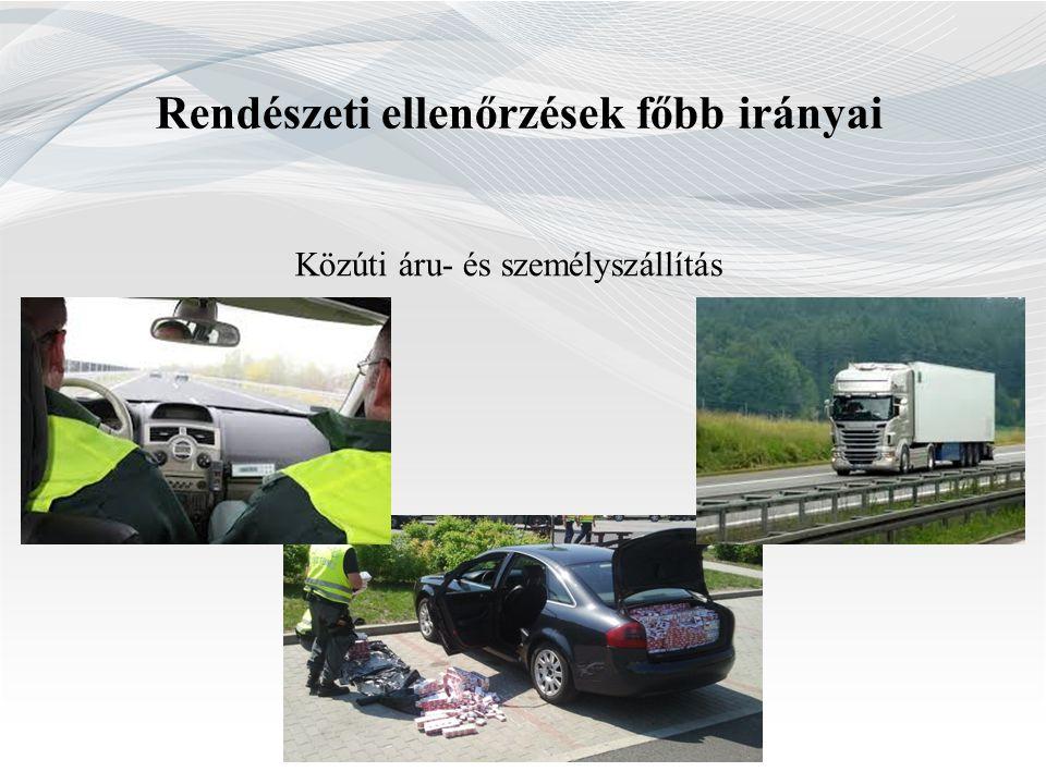 Rendészeti ellenőrzések főbb irányai Közúti áru- és személyszállítás