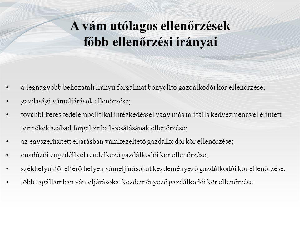 Rendészeti ellenőrzések főbb irányai Fémkereskedelem