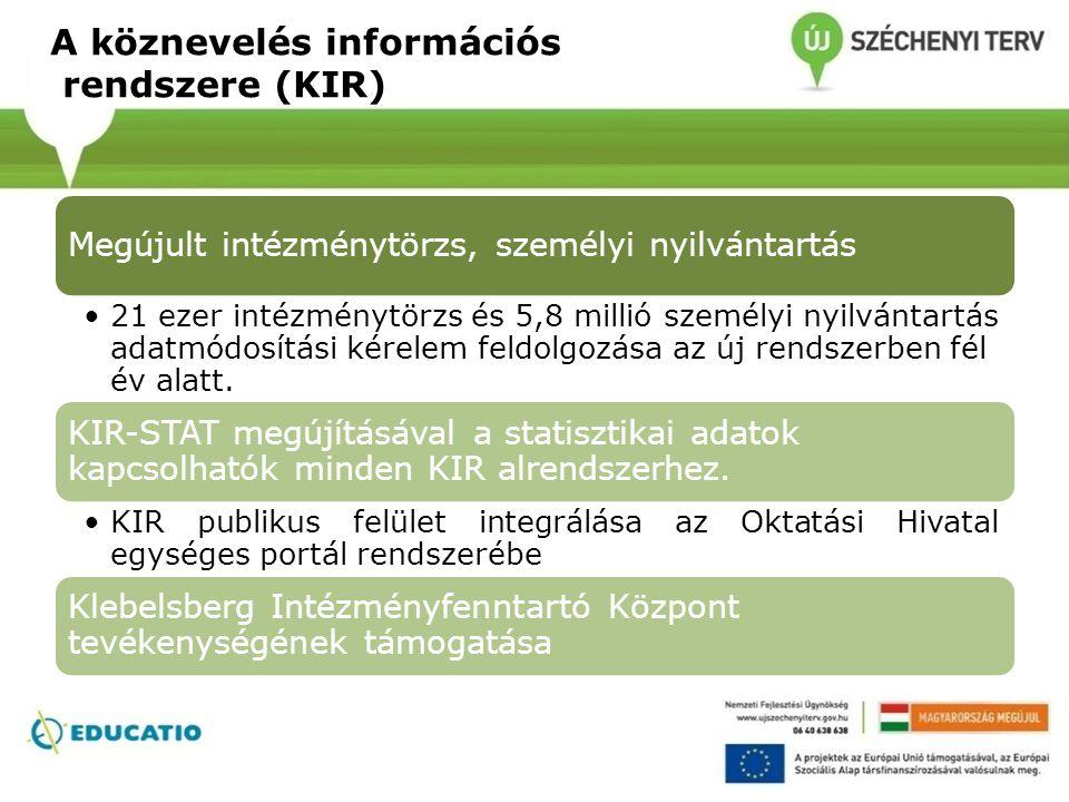 A köznevelés információs rendszere (KIR)