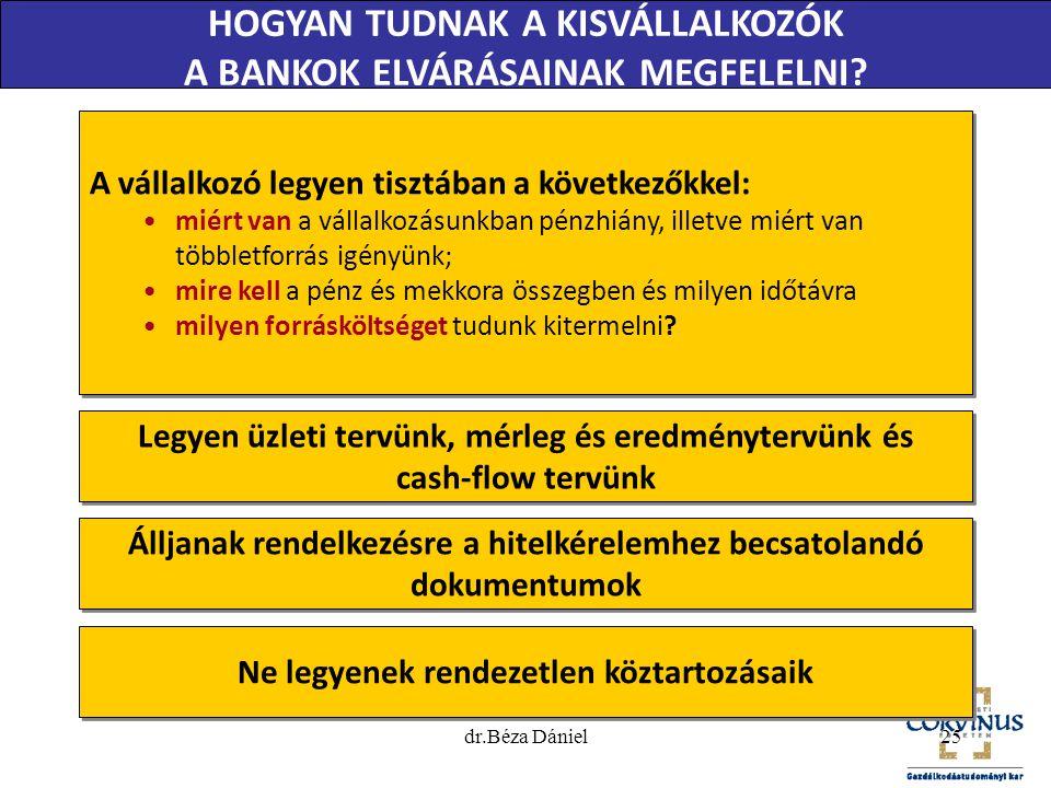 A vállalkozó legyen tisztában a következőkkel: •miért van a vállalkozásunkban pénzhiány, illetve miért van többletforrás igényünk; •mire kell a pénz é