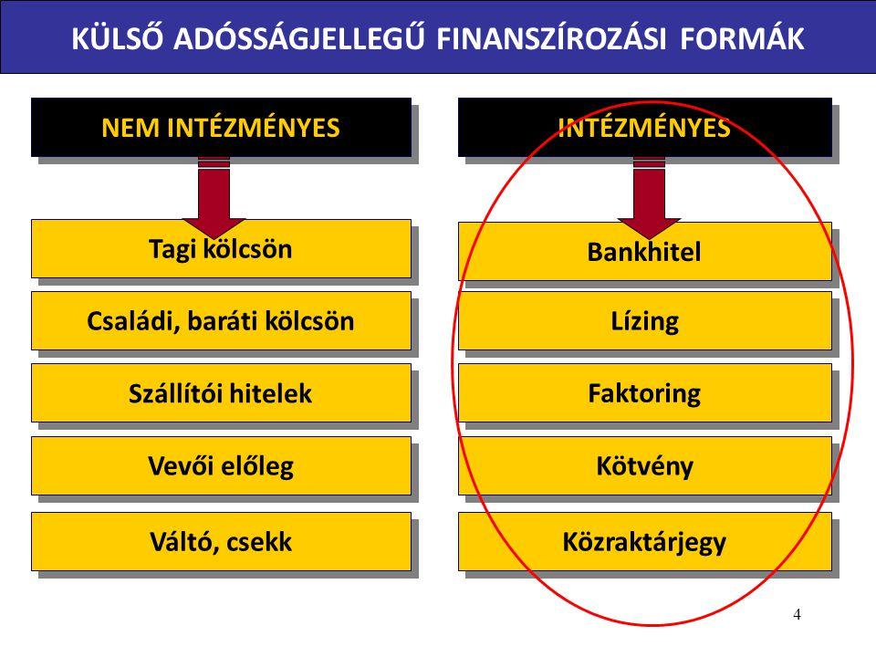 A pénzügyi lízing jogi szabályozása az 1996.évi CXII.