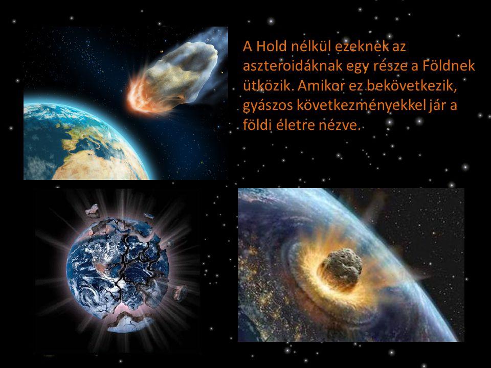 A Hold nélkül ezeknek az aszteroidáknak egy része a Földnek ütközik. Amikor ez bekövetkezik, gyászos következményekkel jár a földi életre nézve.