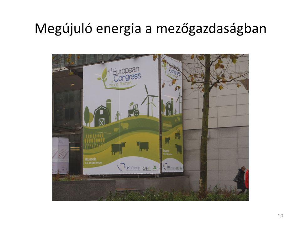 Megújuló energia a mezőgazdaságban 20