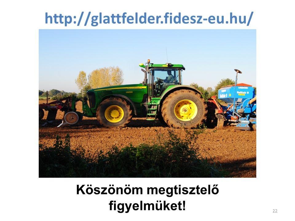 http://glattfelder.fidesz-eu.hu/ 22 Köszönöm megtisztelő figyelmüket!