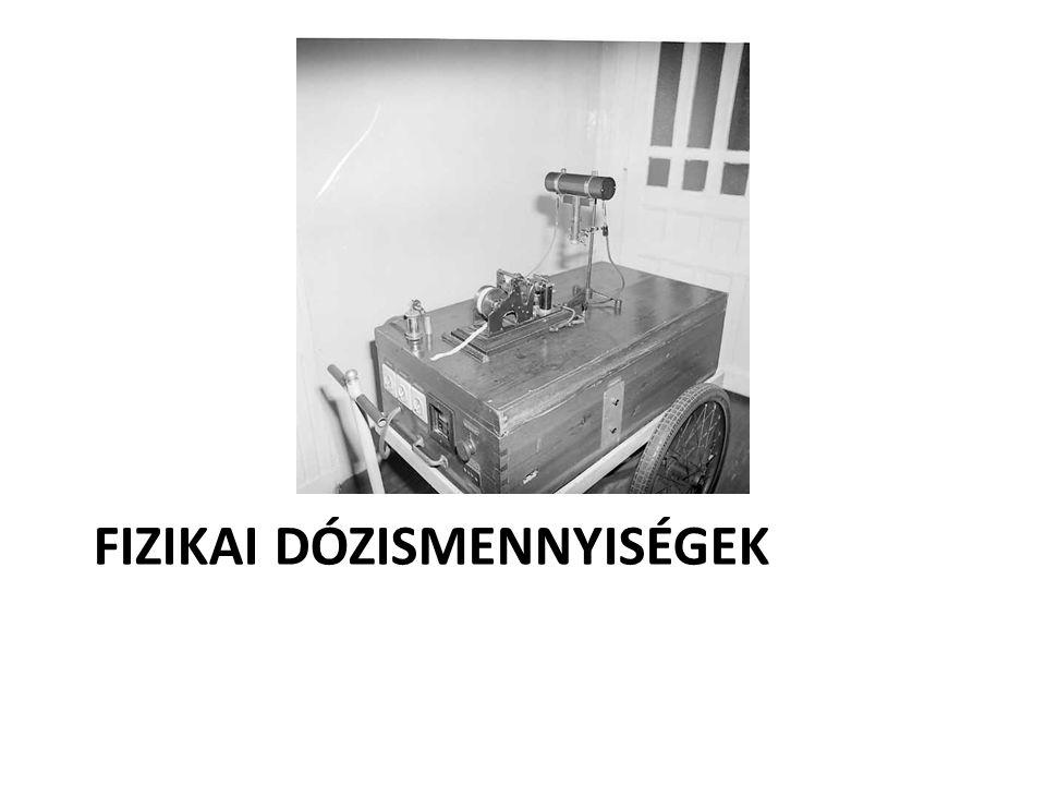 Besugárzási dózis (expozíció) • Röntgen- és γ- fotonokra értelmezhető • Az erythema dózis kb.