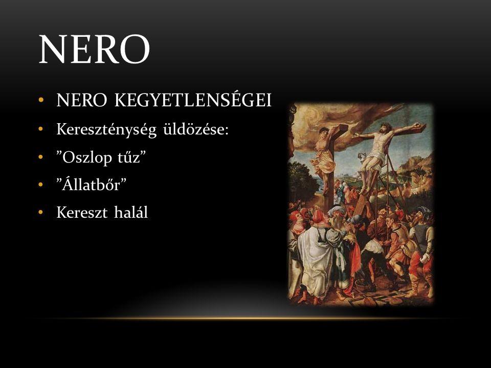 NERO SÖTÉT MÚLTJA • Trónra jutása • Agrippina • Britannicus megmérgezése • Nero udvarlása