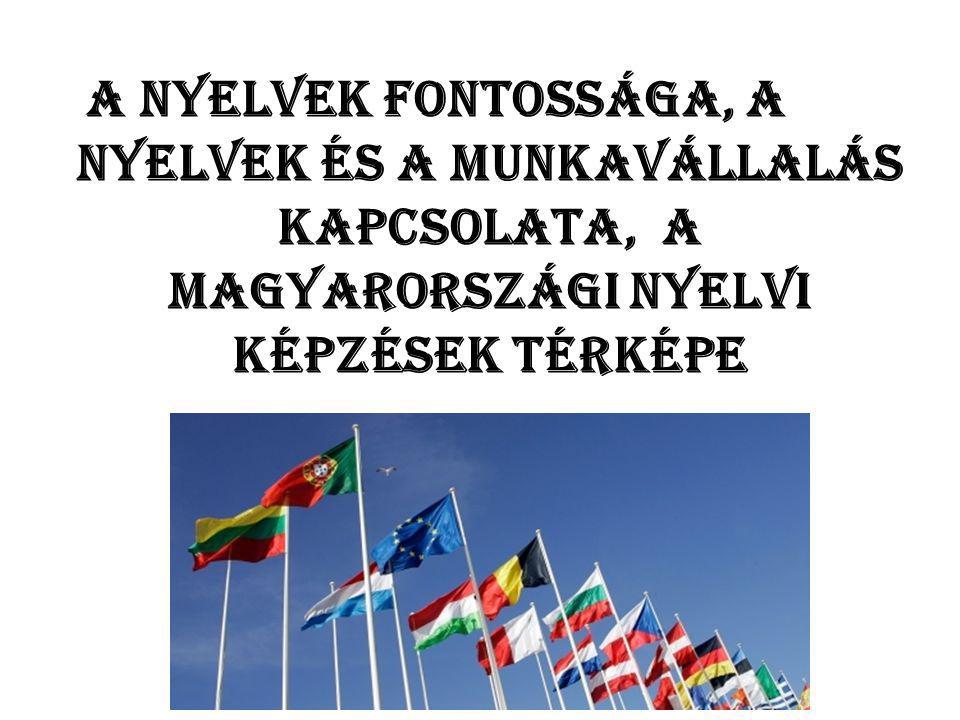 """A magyar lakosság nyelvtudás szempontjából • 2011: a magyarok 25%-a beszél legalább egy idegennyelven • Nagy nyelvtanulási """"trendek : orosz (1980-as évek végéig kötelező az oktatásban), német (1990-es évektől), angol (2000-es évek elejétól napjainkig) • Az orosz nyelv napjainkban reneszánszát éli, ám még mindig ritkaság a min."""
