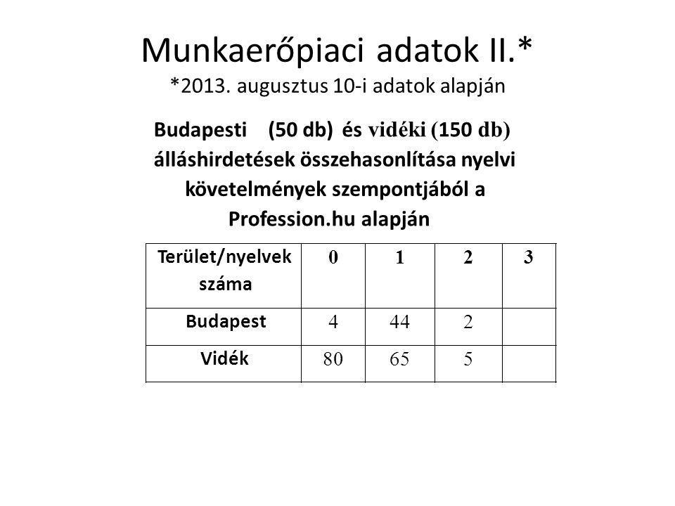 Munkaerőpiaci adatok III.* *2013.