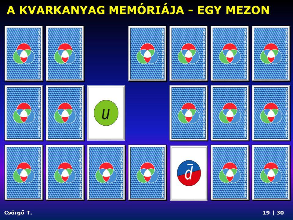 Csörgő T. A KVARKANYAG MEMÓRIÁJA - EGY BARION 20 | 30