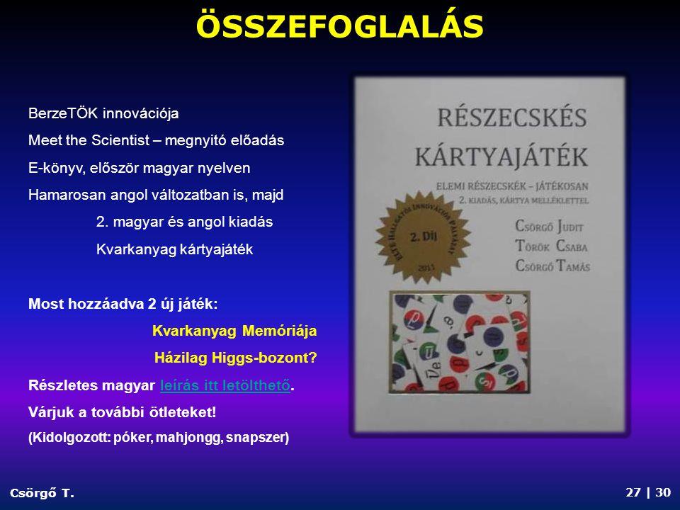 REFERENCIÁK Csörgő T.
