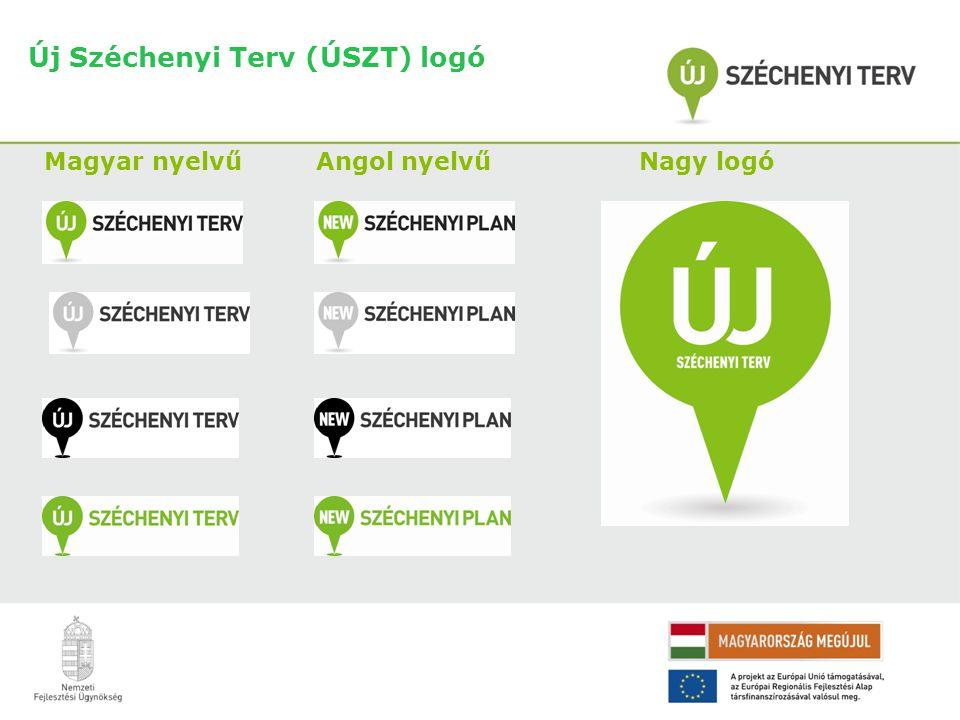 Új Széchenyi Terv (ÚSZT) logó Magyar nyelvű Angol nyelvű Nagy logó