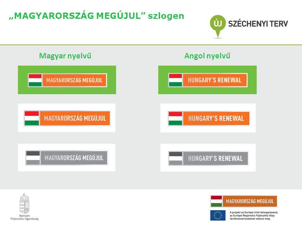 """""""MAGYARORSZÁG MEGÚJUL szlogen Magyar nyelvű Angol nyelvű"""
