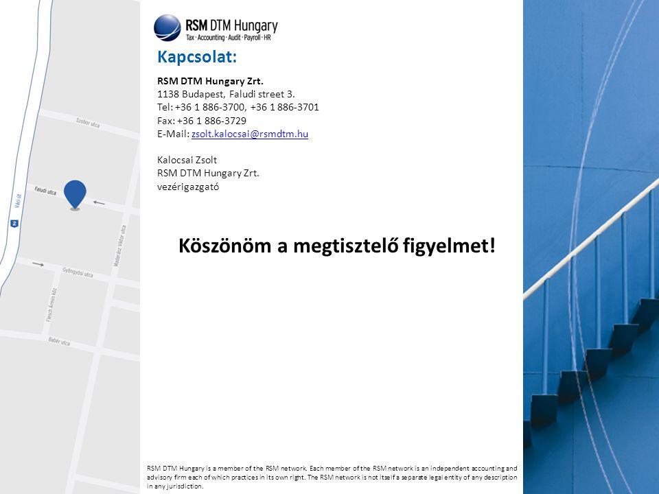 Kapcsolat: RSM DTM Hungary is a member of the RSM network.