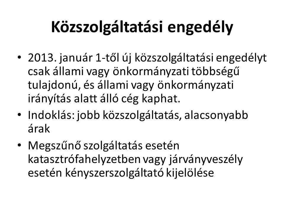 Közszolgáltatási engedély • 2013.