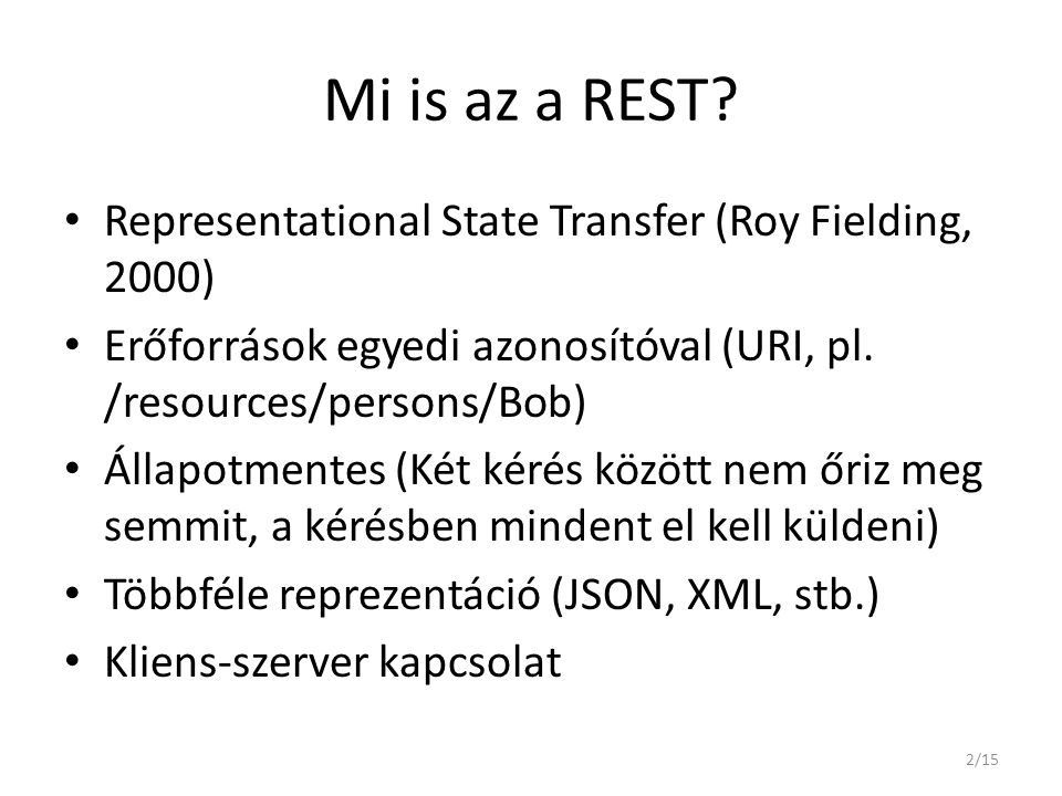 Mi is az a REST.