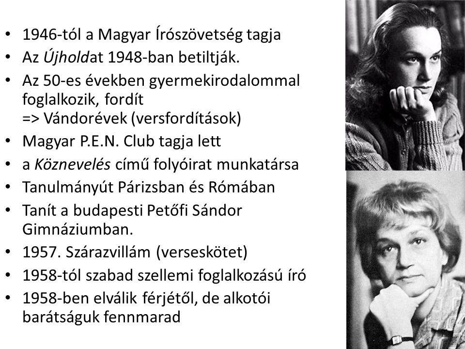• Az 1970-es, 80-as években a magyar irodalmi élet meghatározó alakjává vált.