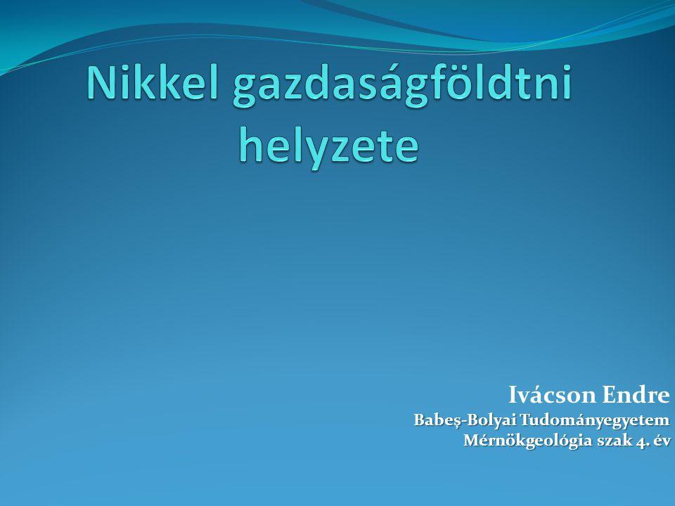 Ivácson Endre Babeş-Bolyai Tudományegyetem Mérnökgeológia szak 4. év Mérnökgeológia szak 4. év