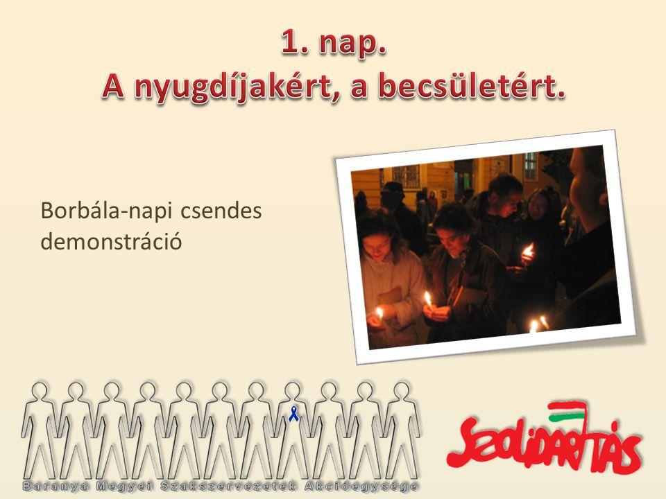 Borbála-napi csendes demonstráció