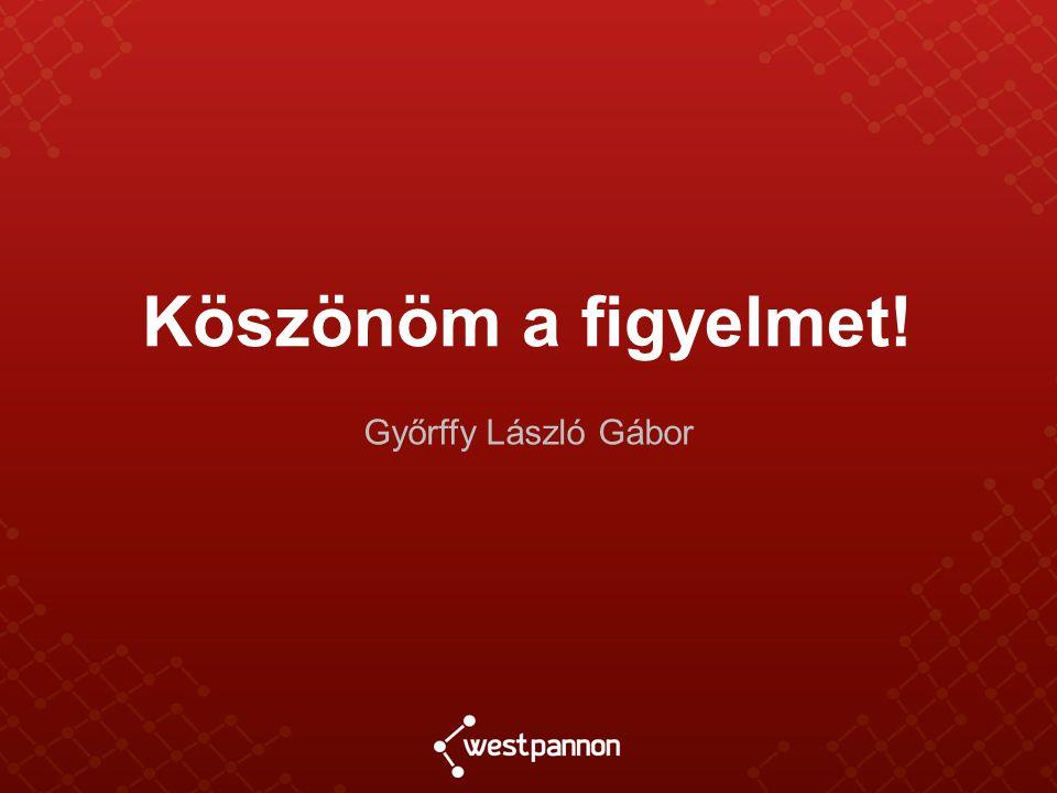Köszönöm a figyelmet! Győrffy László Gábor