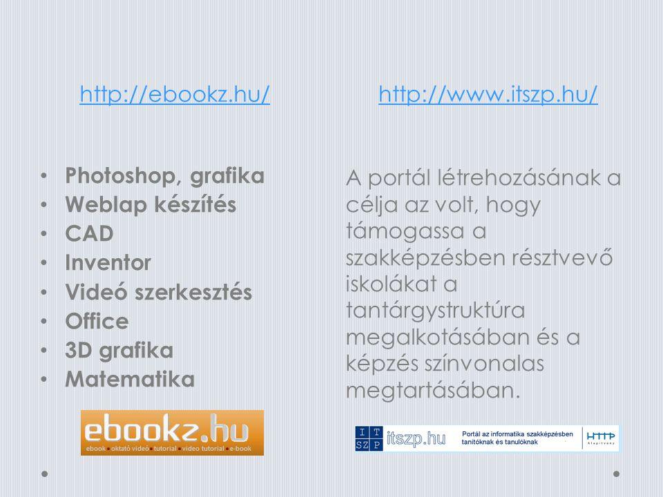 http://etanarikar.hu/http://www.lynda.com/ Regisztráció után nagyon sok oktatási segédlethez (e- tananyaghoz) férhetünk hozzá a Segédanyagok menüpont alatt tantárgyanként csoportosítva, iskolatípus és évfolyam szerint felsorolva.