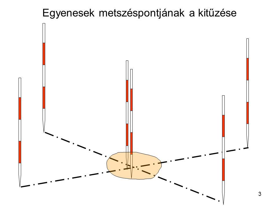 4 A részletmérés alapjai •Feladat –Természetes és mesterséges objektumok felmérése és megjelenítése •Felmérési módszer : numerikus –Koordináta számítása –Koordináták adatbázisban történő tárolása –Megjelenítés digitális térkép formájában •Mérési módszerek –Poláris felmérés –Ortogonális felmérés (Derékszögű koordinátamérés)