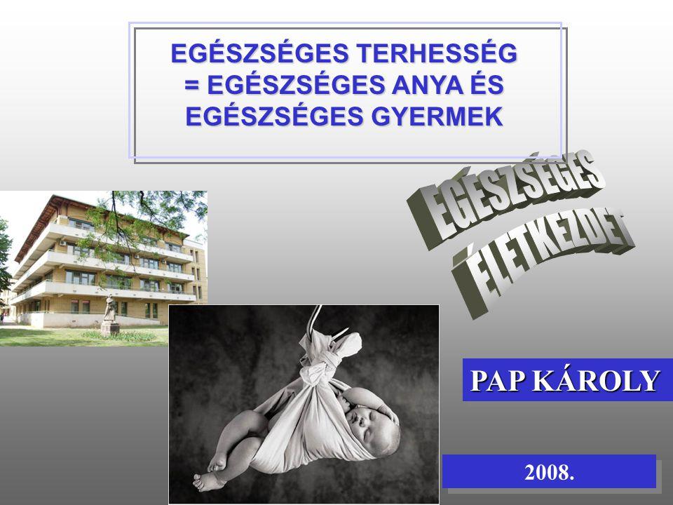 2008. PAP KÁROLY EGÉSZSÉGES TERHESSÉG = EGÉSZSÉGES ANYA ÉS EGÉSZSÉGES GYERMEK