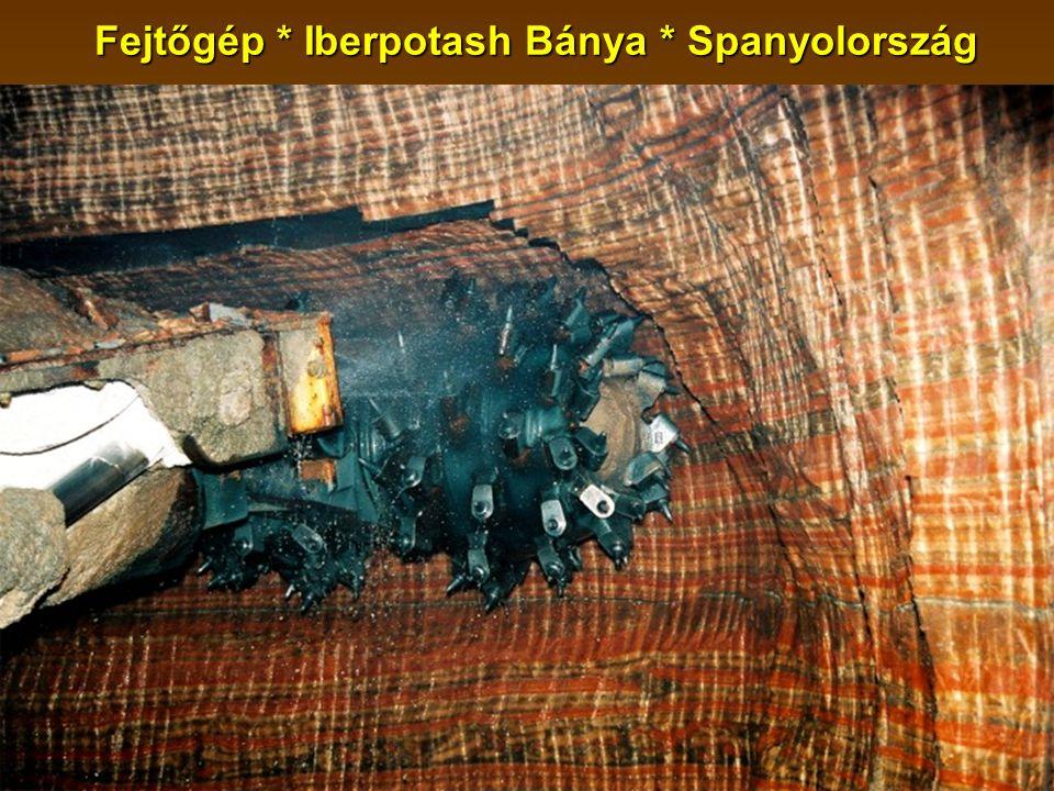 Fejtőgép * Iberpotash Bánya * Spanyolország