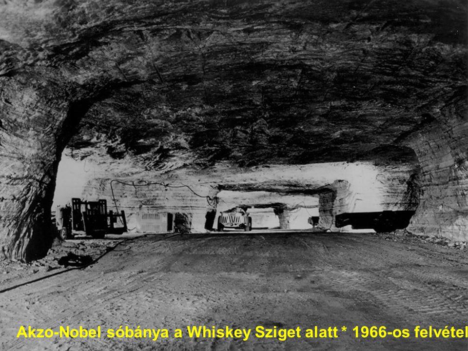 Akzo-Nobel sóbánya a Whiskey Sziget alatt * 1966-os felvétel