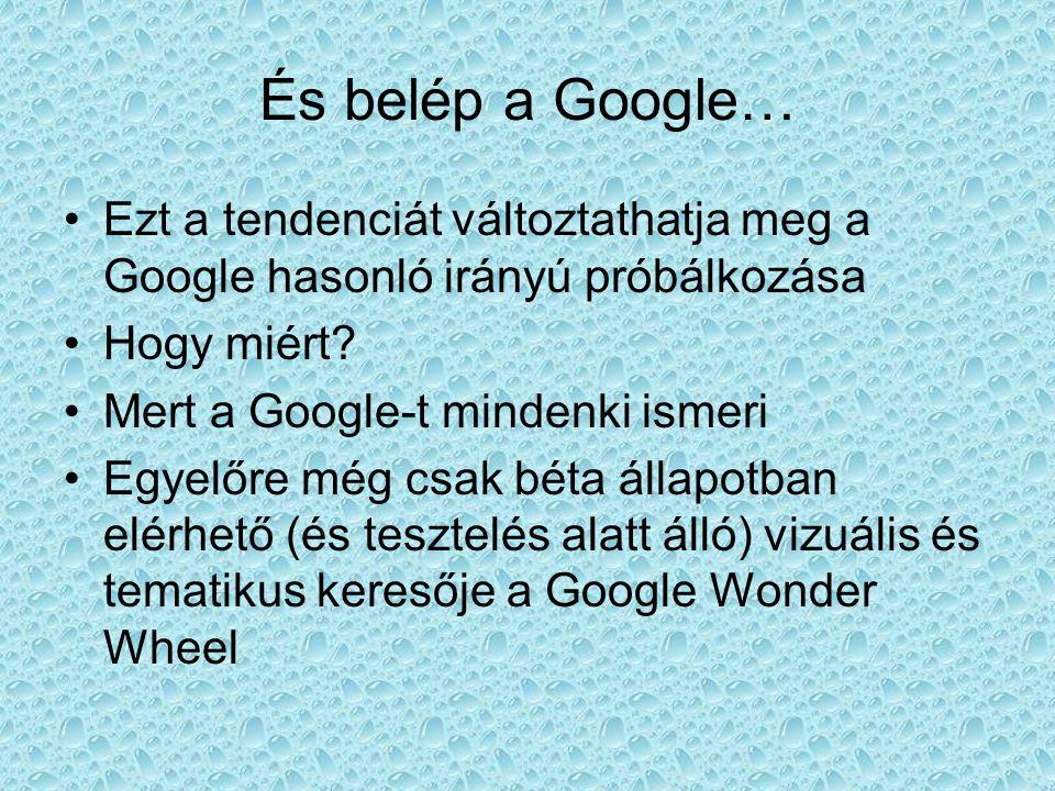 És belép a Google… •E•Ezt a tendenciát változtathatja meg a Google hasonló irányú próbálkozása •H•Hogy miért.