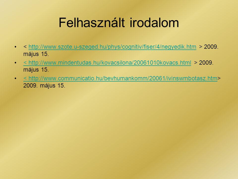 Felhasznált irodalom • 2009.