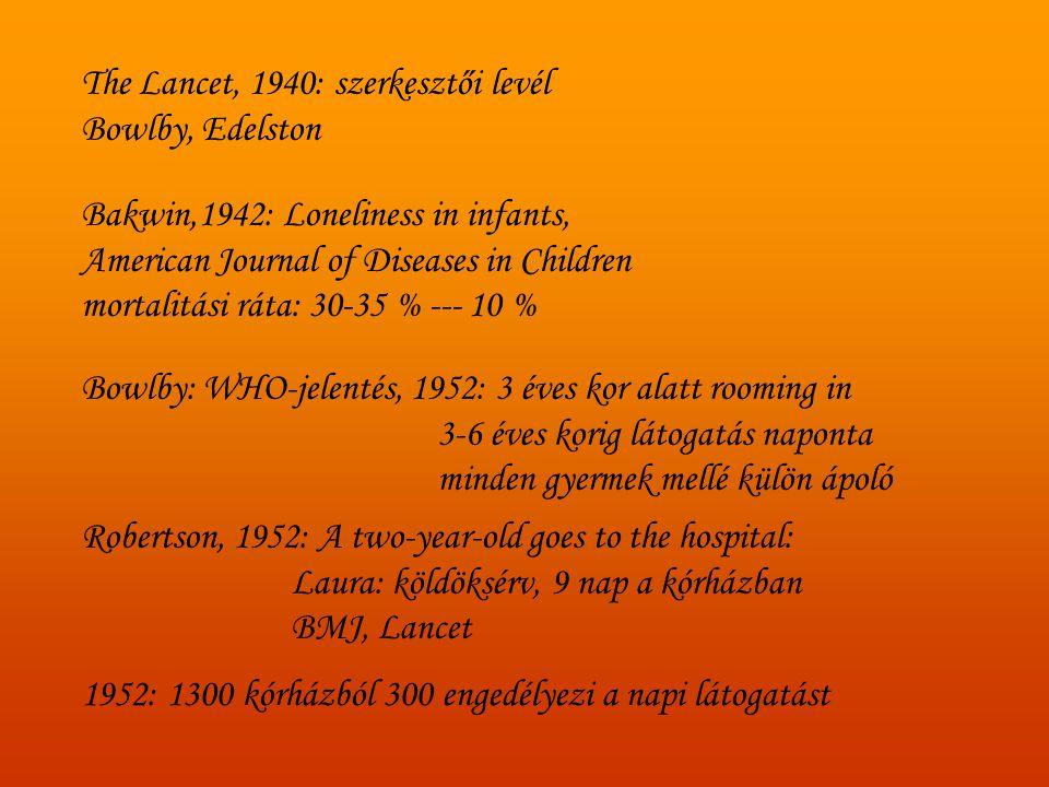 The Lancet, 1957 (Vaughan) : a gyermek tájékoztatása fontos.