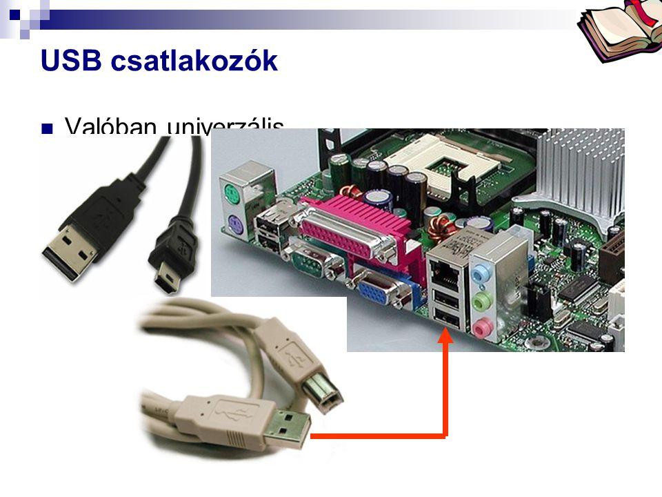 Bóta Laca USB csatlakozók  Valóban univerzális.