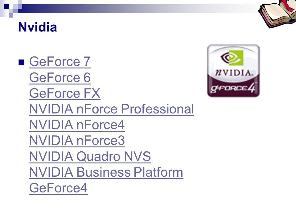 Bóta Laca Nvidia  GeForce 7 GeForce 6 GeForce FX NVIDIA nForce Professional NVIDIA nForce4 NVIDIA nForce3 NVIDIA Quadro NVS NVIDIA Business Platform