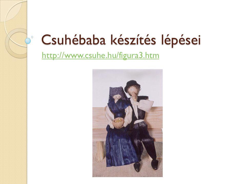 Csuhébaba készítés lépései http://www.csuhe.hu/figura3.htm