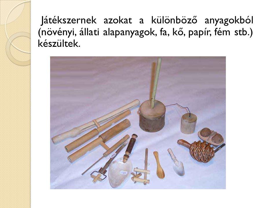 Tárgykészítő játékok  Virágkoszorú  Nyaklánc  Állatfigurák növényekből  Vesszőparipa  Csutkarozi készítés  Töklámpa  Papírsárkány