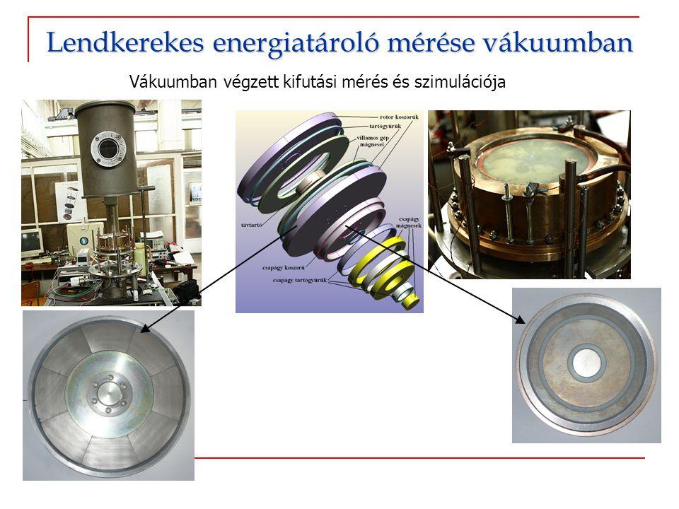 Vákuumban végzett kifutási mérés és szimulációja Lendkerekes energiatároló mérése vákuumban