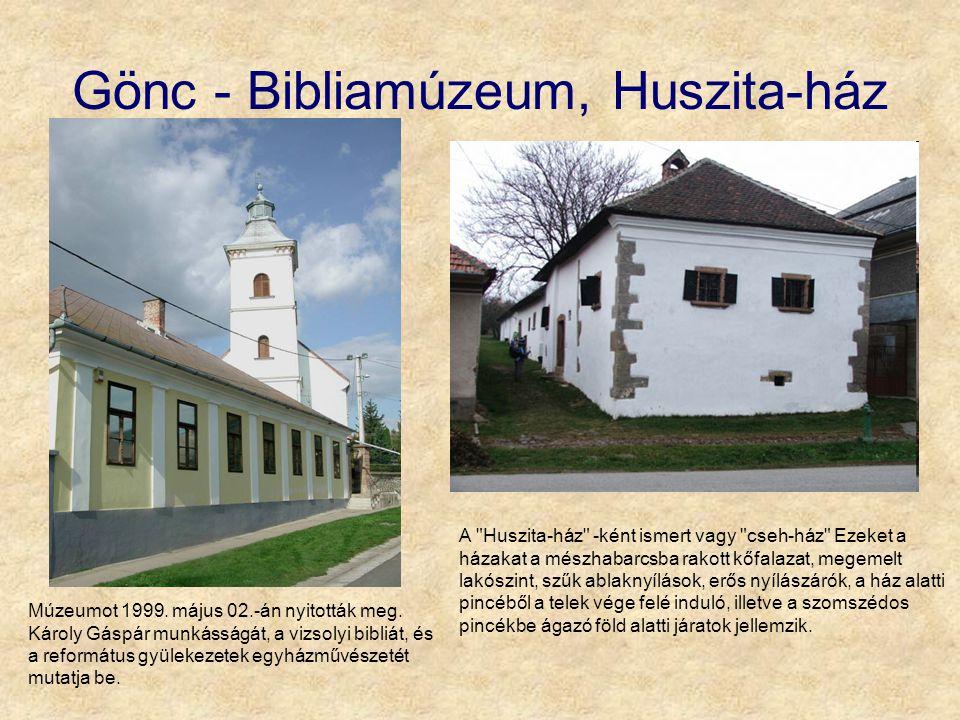 Gönc - Bibliamúzeum, Huszita-ház A