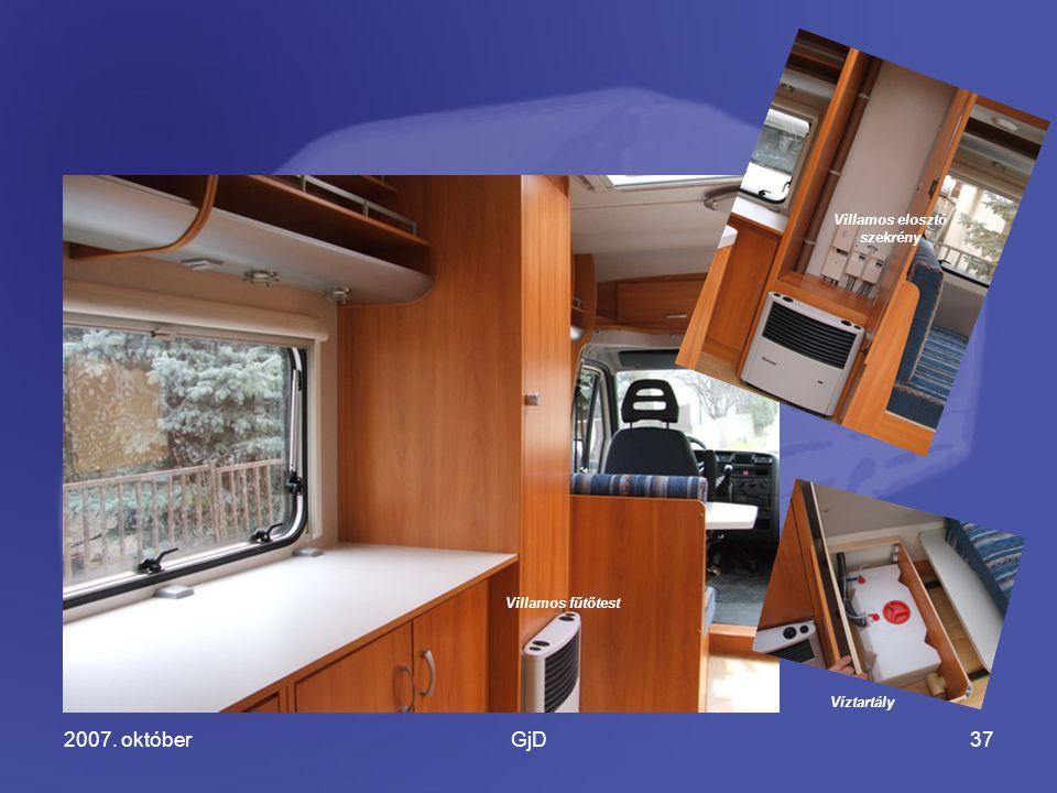 2007. októberGjD37 Villamos fűtőtest Villamos elosztó szekrény Víztartály