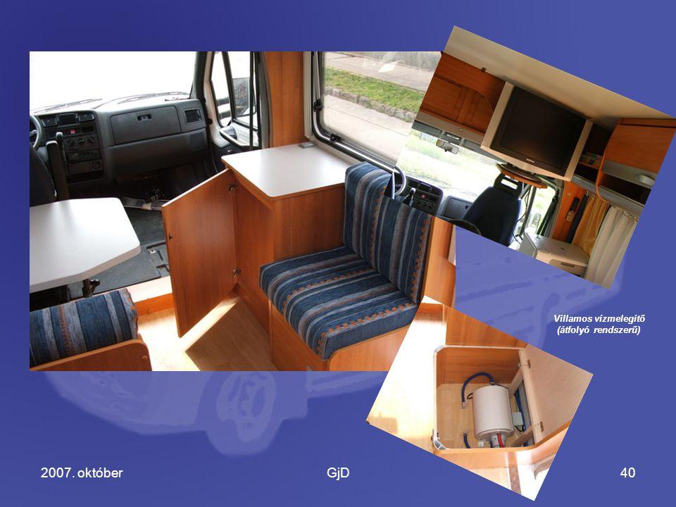 2007. októberGjD40 Villamos vízmelegítő (átfolyó rendszerű)