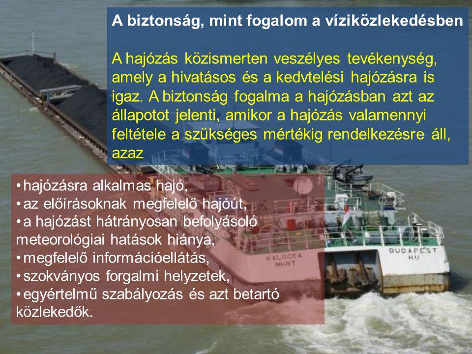 A biztonság, mint fogalom a víziközlekedésben A hajózás közismerten veszélyes tevékenység, amely a hivatásos és a kedvtelési hajózásra is igaz. A bizt