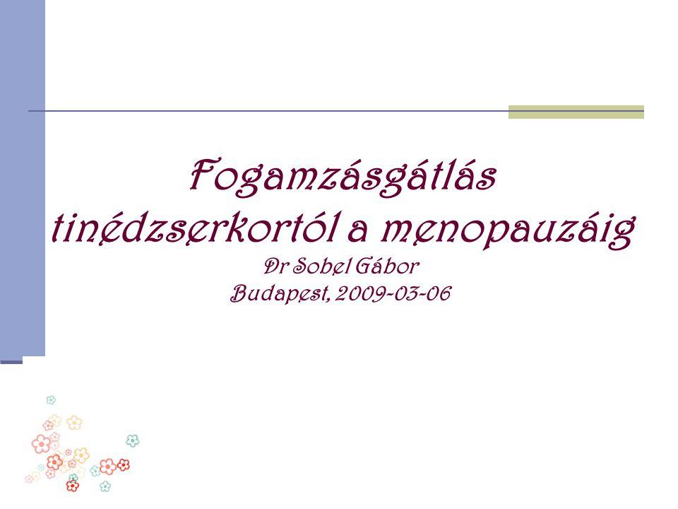 A drospirenon el ő nyei Antimineralocorticoid hatás Gestagen hatás Antiandrogén hatás Na- és H 2 O retentio csökken Megb í zható ovulációgátlás és cikluskontroll Acne és seborrhoea javul Testsúlycsökkenés Eml ő feszülés és oedema megsz ű nik Kedvez ő PMS hatás Feldmann : Gyne 27 ( 2006 ) 157-159
