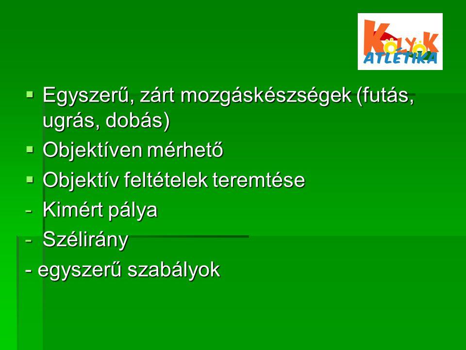 Oktatás pl.: Helyből távolugrás Versenyfeladat: